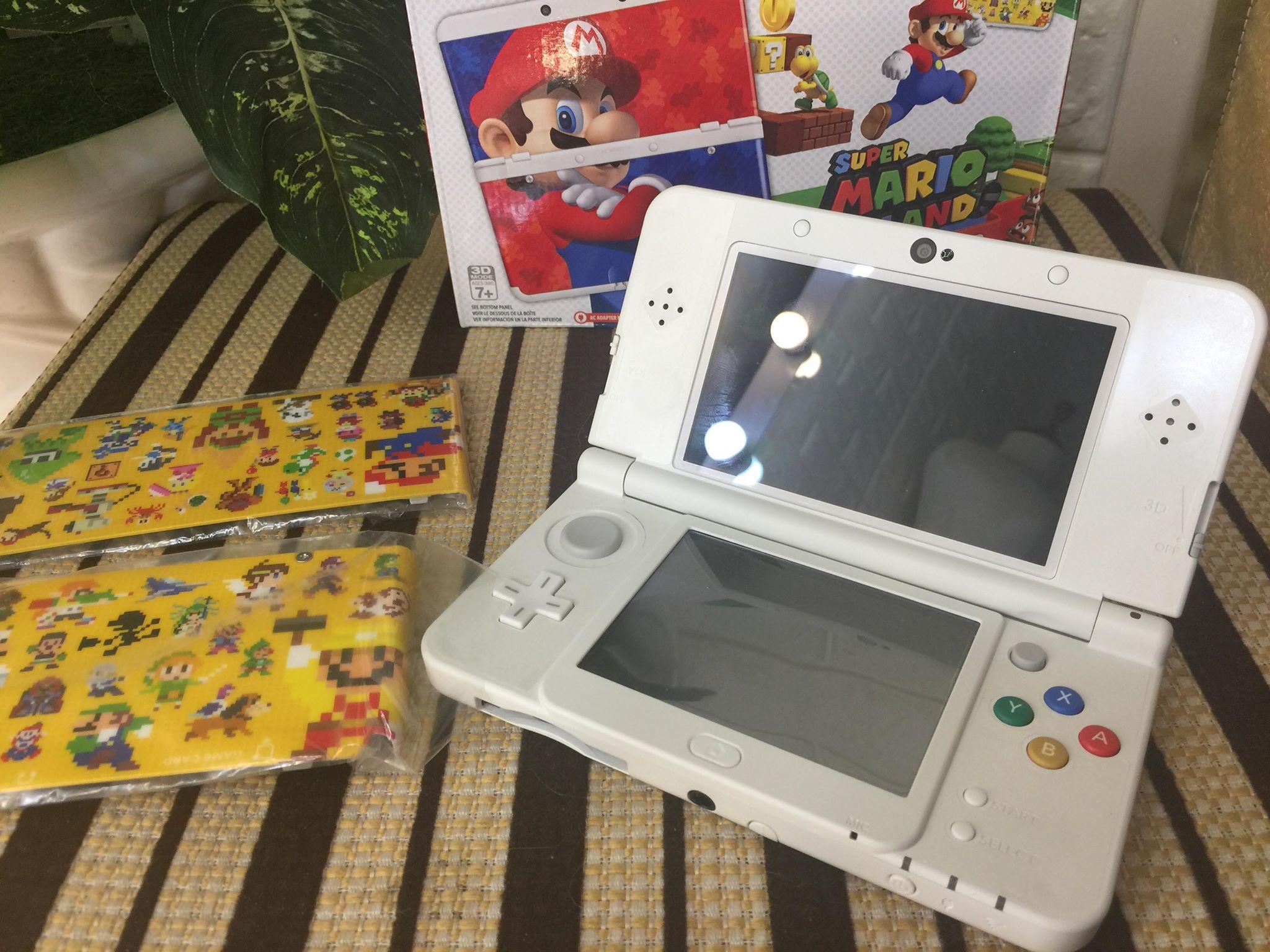 New 3DS limited Super Mario 3D Land cũ - US ✓ Máy nguyên zin mới 99% ✓ Full  box | Bút cảm ứng | Thẻ 4G | AR Card | Cover plate Mario