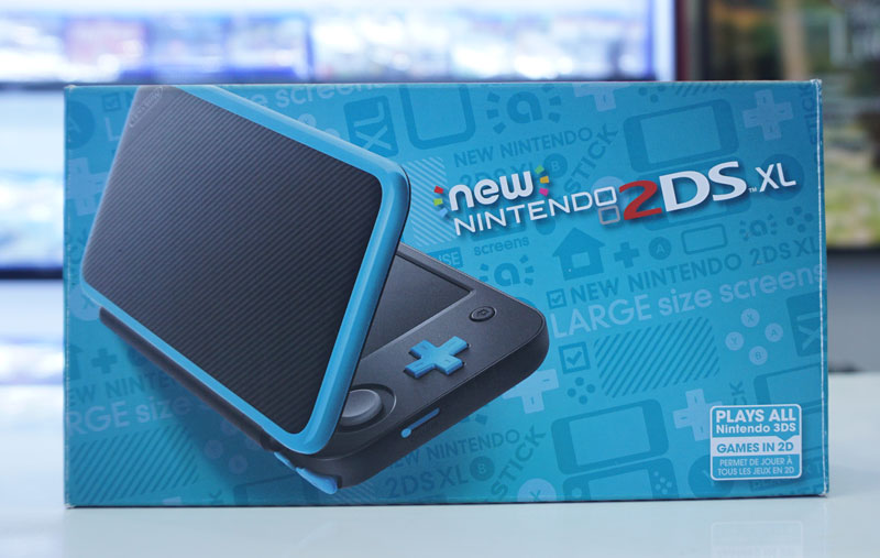 Nintendo New 2DS XL Black cũ 99% fullbox - Máy đã hack full , kèm thẻ nhớ  32gb - Chép game miễn phí